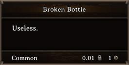 DOS Items Junk Broken Bottle