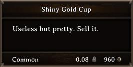 DOS Items Precious Shiny Gold Cup