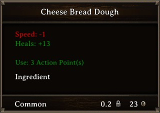 DOS Items Food Cheese Bread Dough Stats