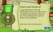 Badge gardening level 3 green