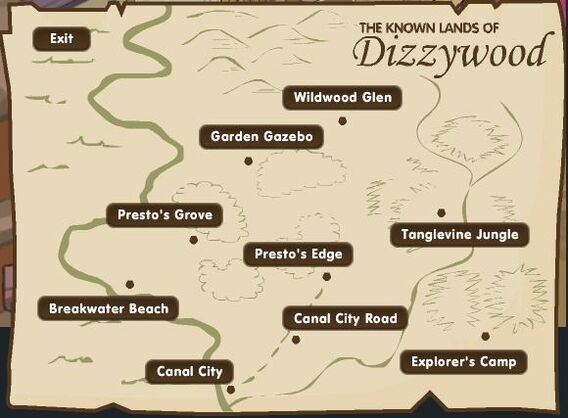 Map of dizzywood