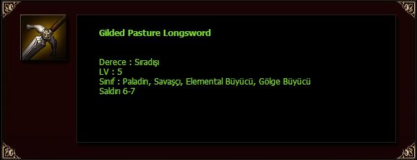 Gilded Pasture Longsword