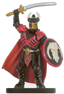 male human miniature with armor, helmet, sword and shield