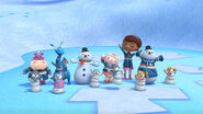 The whole gang chilly's snow globe shakeup