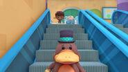 The mayor on the escalator