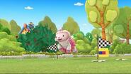 Lambie runs through the finish line