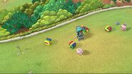 Lambie and tessie running around tower blocks