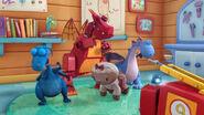 Lambie, stuffy, dragon bot and bronty got wet