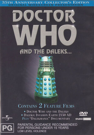 Doctor who and the daleks australia dvd
