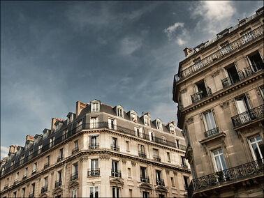Paris buildings clouds 02