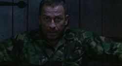 Sarge holds the door shut