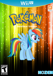 Pokemon game with Rainbow dash