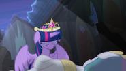 Twilight cries over Princess Celestia's body S4E2