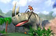 Donkey Kong Racing - Diddy on giant Rambi
