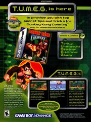 Donkey Kong Country Gameboy Advance print ad NickMag June july 2003