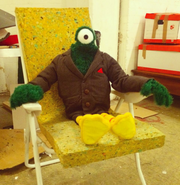 Bird Puppet with one eye