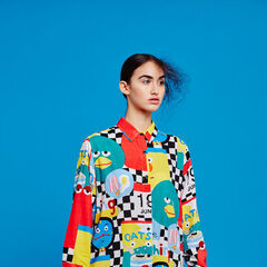 Model wearing a Lazy Oaf Shirt