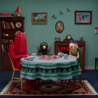 The games room of the puppets' house