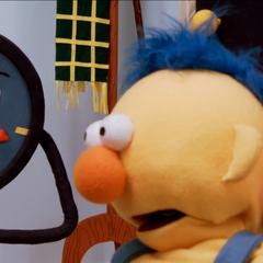Tony screaming at Yellow Guy