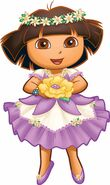 Dora in Enchanted Forest dress
