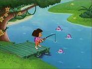 Dora and fish