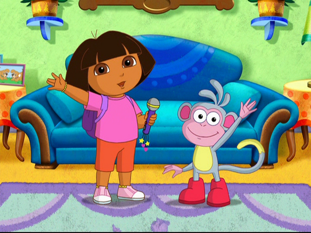 File:Dora and Boots Microphone Dora Rocks!.png