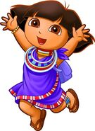 Dora african outfit