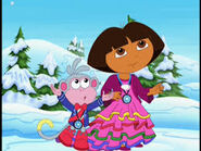 Dora and boots walkin