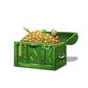 Plundered treasure chest green