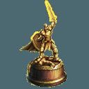 Aureate gauntlet trophy familiar