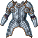 Chest man at arms