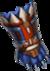Gloves blue jaguar warrior