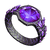 Crystal infusion ring
