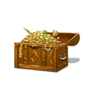 Plundered treasure chest orange