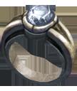 Ring white opal