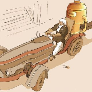 Concept art of a Steam Car.