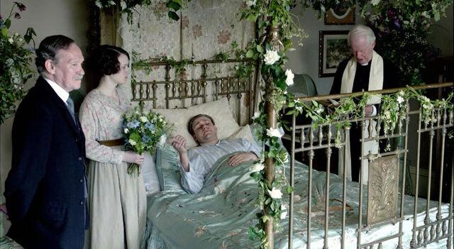 File:Downton abbey william's wedding.jpg