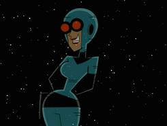 S03M04 Maddie wrist hologram in space