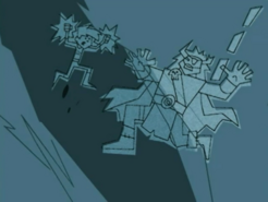 S03e02 Danny fights Ghost King carving