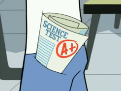 S03e09 A+ on science test