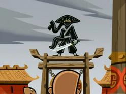 S03e02 samurai Danny at the ready