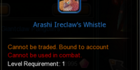 Arashi Ireclaw's Whistle