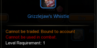 Grizzlejaw's Whistle