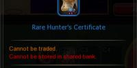 Rare Hunter's Certificate