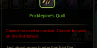 Pricklepine's Quill