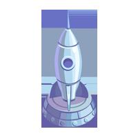 Silver Rocketship