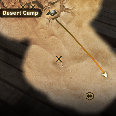 Location of the well, Forbidden Oasis