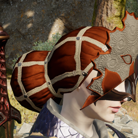 Mask of Valmont worn by a female character