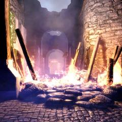 Atakowany zamek Cousland