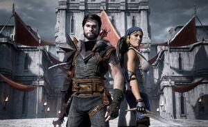 Wallpaper Dragon Age 2 Hawke and Isabela